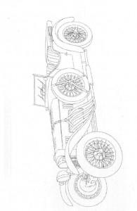 kleurplaat Klassieke auto s (7)