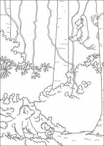 målarbok Liten isbjörn som Tarzan