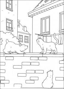 målarbok Liten isbjörn och katt