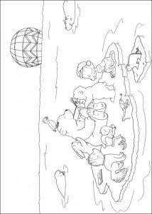målarbok Liten isbjörn med sina vänner