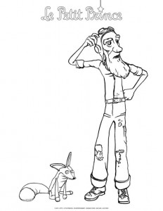 coloring page Little prince (1)