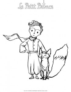coloring page Little prince (2)