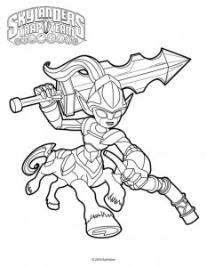 knight mare coloring page