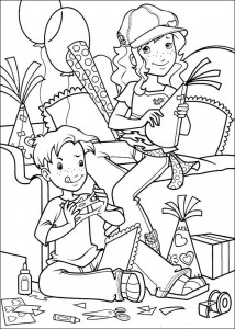 coloring page Cut and paste