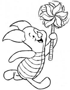 Disegno da colorare Maialino con mulino a vento (1)