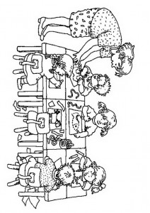 pagina da colorare Artigianato nel gruppo