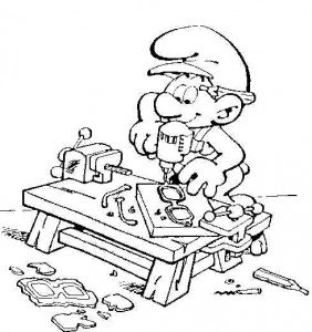 målarbok Craft Smurf (1)