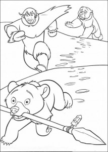 coloring page Koda steals spear