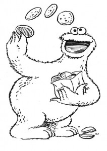 coloring page Cookie monster (4)