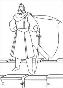 coloring page King Dymas
