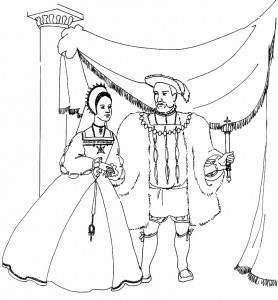 målarbok Kung och drottning