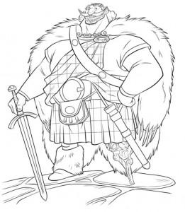 målarbok King Fergus
