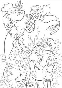 kleurplaat Koning Triton