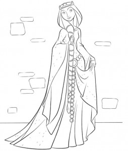 coloring page Queen Elinor