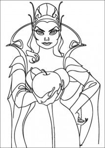målarbok Drottning Narissa