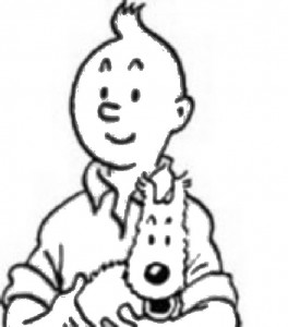 coloring page Tintin (1)