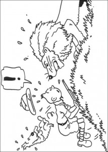 coloring page Tintin in Africa (1)
