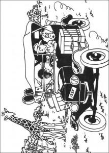 målarbok Tintin i Afrika