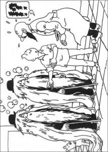 målarbok Tintin