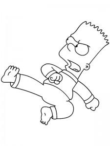 coloring page Kung Fu Bart