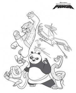 kleurplaat Kung Fu Panda (1)
