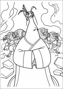 kleurplaat Kung Fu Panda 2 (17)