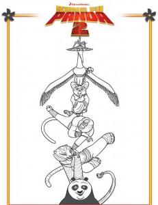 kleurplaat Kung Fu Panda 2 (2)