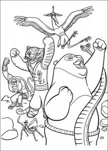 kleurplaat Kung Fu Panda 2 (3)