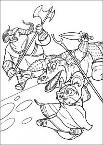 kleurplaat Kung Fu Panda 2 (9)