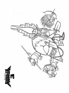 Disegno da colorare Kung Fu Panda 3 (1)