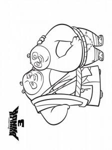 kleurplaat Kung Fu Panda 3 (2)