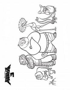kleurplaat Kung Fu Panda 3 (3)