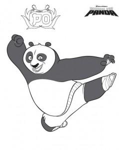 pagina da colorare Kung Fu Panda Po