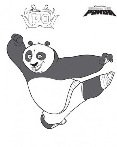 kleurplaat Kung Fu Panda Po