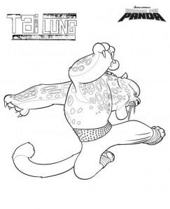 раскраска Кунг-фу Панда Тай Лин