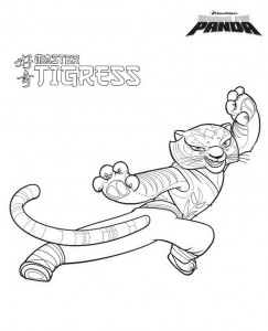 раскраска Кунг фу панда тигрица