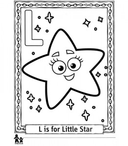 coloring page L Little Star = Small star