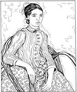 coloring page La Mousme 1988