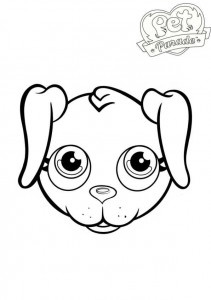 kleurplaat labrador 2