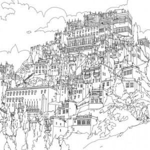 coloring page ladakh