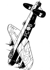 coloring page Lancaster B1 1944