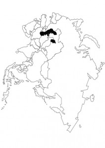 kleurplaat Landkaart Azië