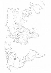 målarbok Världskarta