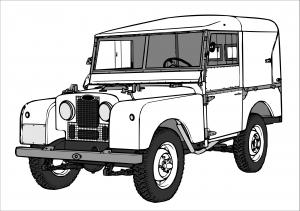målarbok Land Rover