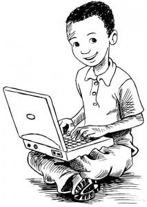 kleurplaat Laptop