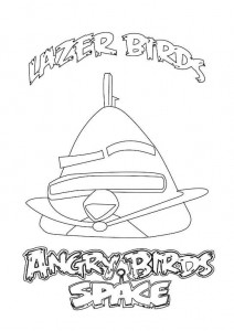 coloring page lazer birds 2