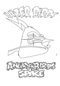 coloring page lazer birds