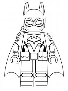 kleurplaat lego batgirl