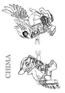 målarbok lego chima Cragger vs Eris