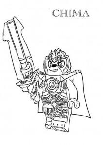 kleurplaat lego chima Lennox Lion